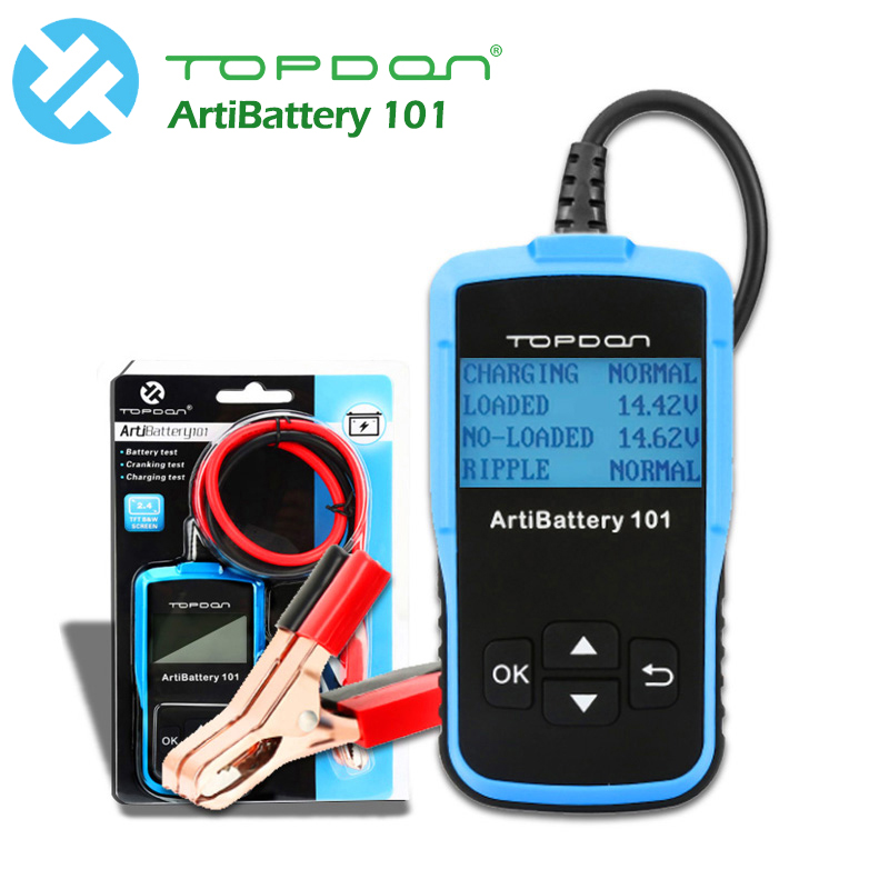 Car Battery Tester 16V DC Digital Battery Analyzer Cranking Charging Tester TOPDON AB101 Battery Checker auto