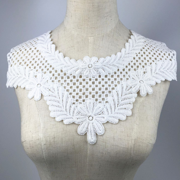 10pcs Heart-shape Net yarn Embroidered Lace Collar curtain//Clothing Accessories