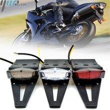 12 V 15 V Motorfiets Universele Achterlichten Trial Bike Achterspatbord Achterlichten LED Brake Stop Licht Rood Cafe racer achterlicht Lampen