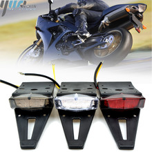 12V 15V Motorcycle Universal Tail Lights Trial Bike Rear Fender Taillights LED Brake Stop Light Red Cafe Racer Tail light Lamps