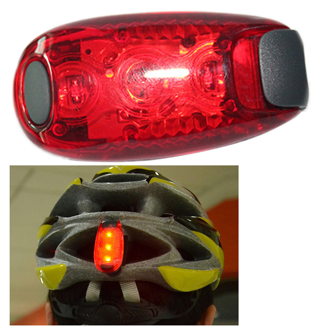 Bike Cycling Lights Super Bright 3 LED Bike Light Taillight Safety Warning Luz Bicicleta Mountaineering Backpack Helmet Runn