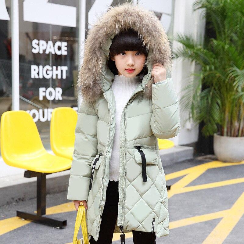 Children Clothes Fashion Down Jacket Girls Snowsuit Winter Outerwear Kids Girls Duck Down Parkas Windbreaker TZ78 2018 brand winter children s duck down outerwear
