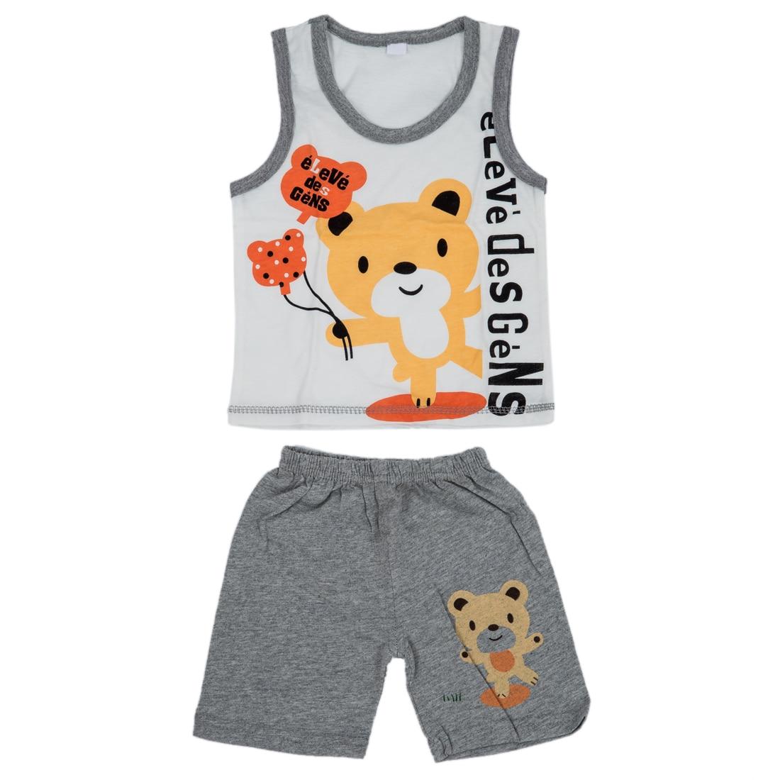 Одежда для малышей комплект, Обувь для девочек Обувь для мальчиков футболка + Брюки для девочек майка Шорты для женщин, дети пижамы набор, де...