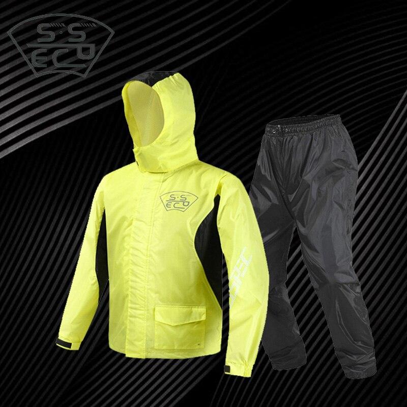 Moto Raincoat Motorcycle Split Of Adult Men And Women Fashion Outdoor Sport Waterproof Raincoat Rain Pants