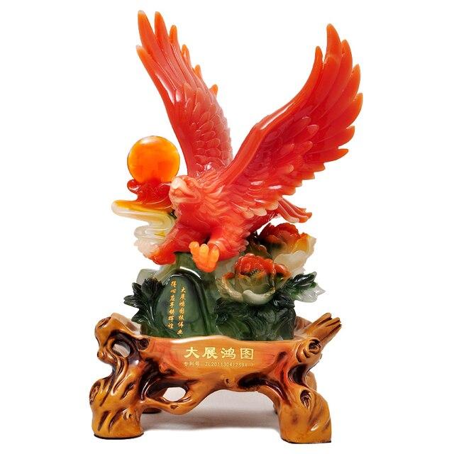 Zhan Grand Opening Celebration Eagle Ornaments Crafts Business Gifts Office Desk Knick Knacks