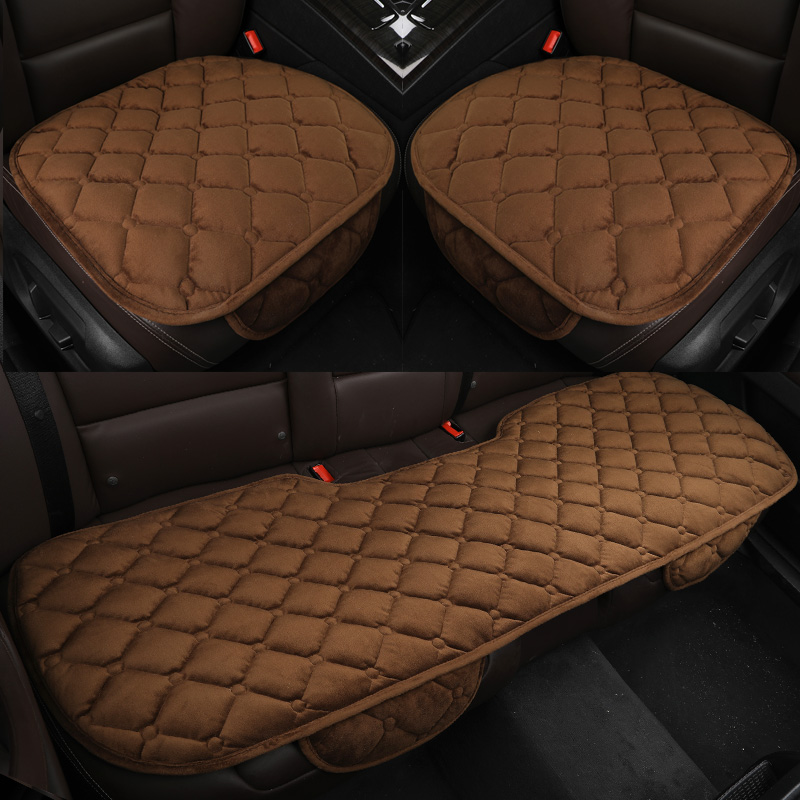 3PCS <font><b>Car</b></font> <font><b>Seat</b></font> <font><b>Cover</b></font> <font><b>Car</b></font> <font><b>Seat</b></font> Protects AUTOYOUTH Auto Accessories For Office Home Chair For skoda octavia 2 <font><b>mercedes</b></font> <font><b>w211</b></font> Brown image