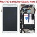 """5.7 """"branco para samsung galaxy note 3 n9005 display lcd touch screen digitador com a montagem do quadro moldura replacemet frete grátis"""