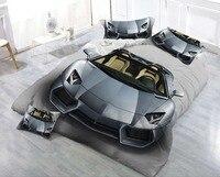 3D Bedding Set Car Print Duvet cover set lifelike bedclothes with pillowcase bed set home