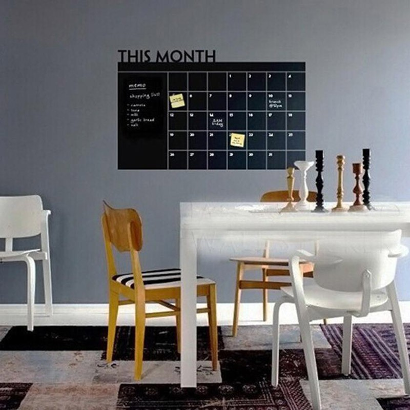 Wall Stickers Month Planner Blackboard Office Home Decor Living Room Chalkboard Decal Mural Wallpaper In From Garden On