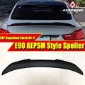 E90 Spoiler diffuseur arrière aile de lèvre de coffre PSM Style FRP non peint pour 3 séries 320i 325i 330i 320d 335i ailes de becquet de coffre 05 11 Ailerons de voiture     -
