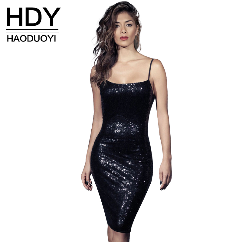 NEW FASHIONS  HDY Haoduoyi Womens Sexy Backless Sequins Strap Dress Fashion Bodycon Pencil Party Dresses for wholesale
