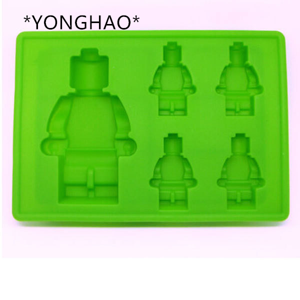 New Arrival Robot shape Silicone Mold Cake Decoration Fondant Cake 3D Food Grade soap chocolate Moulds