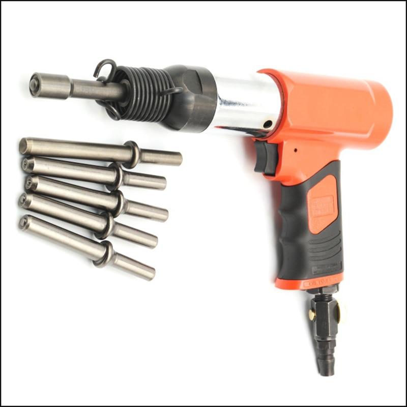 цена на Pneumatic riveter street traffic signs advertisement nameplate air rivet tool 3-8MM screw nut riveting hammer Y