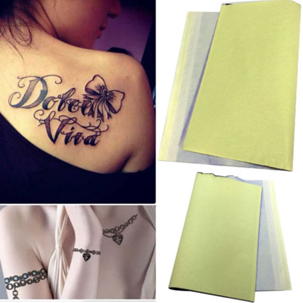 tattoo tracing paper Toyofmine new 5/20pcs tattoo transfer copier paper spirit tattoo transfer kits carbon tracing paper ink spirit master thermal transfer paper tattoo.