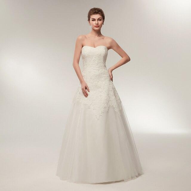 Vintage Lace Tulle Wedding Dress A Line Sweetheart Neckline ...