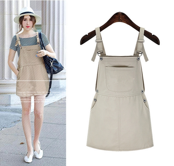 Women Summer Wear Cool Fashion Pure And Fresh Picnic Overall Dress 2016 Young Girls Sweet High