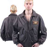 45P AF flight jacket US Army Military Pilot Bomber usaf hip hop motorcycle of environmental protection leather Men's WOMen's