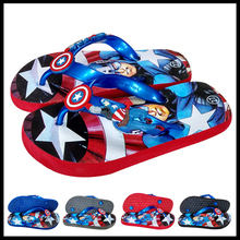 Fashion flip-flops children's slippers Captain America/Spider-Man slippers summer boys beach slipper