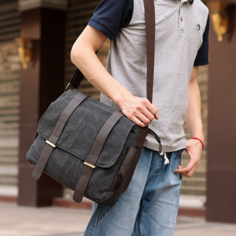 Fzmbai Men Canvas Messenger Bags Male Leisure Satchel Bag College School In From Luggage On Aliexpress Alibaba Group