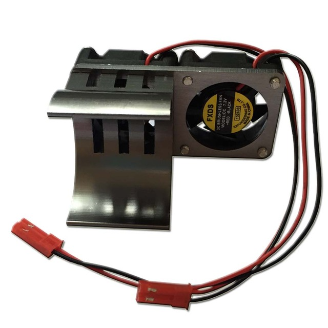 RC 1:10 Car 540 550 Motor Heatsink Electric Motor Proof Cover Heat Sink Cooling Twin Dual Fan 1/10