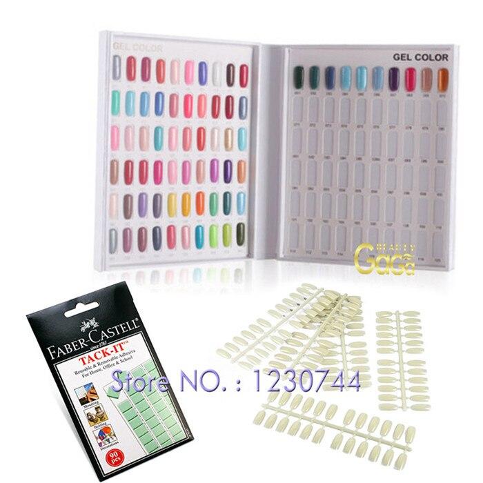BNG 120 Blanks Nail Art Color Chart Book + 120pcs False Nail Tips + ...