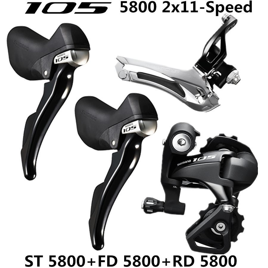 Image 2 - SHIMANO 5800 R7000 Groupset 105 5800  R7000 Derailleurs  ROAD Bicycle ST+FD+RD Front REAR Derailleur  SS GSgroupset 1055800 groupsetrear derailleur -