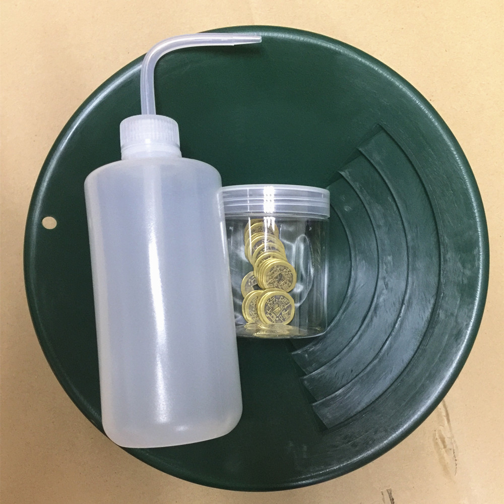 лучшая цена 2017 Gold Rush Sifting Classifier Screen Sieve Pan Underground Metal Detector Tools KIT 10 Inche Gold Panning and Clean Bottles