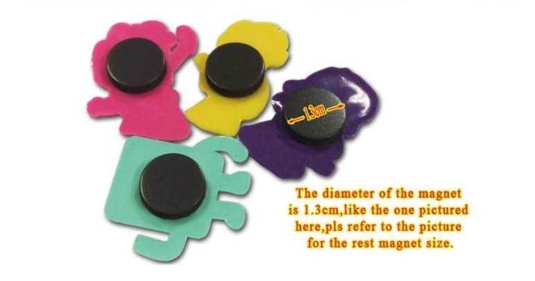 Compre 8 UDS y consiga 2 uds. Imanes para pizarra magnéticos de PVC increíbles con dibujos animados para niños, bonitos imanes para nevera, regalo para niños
