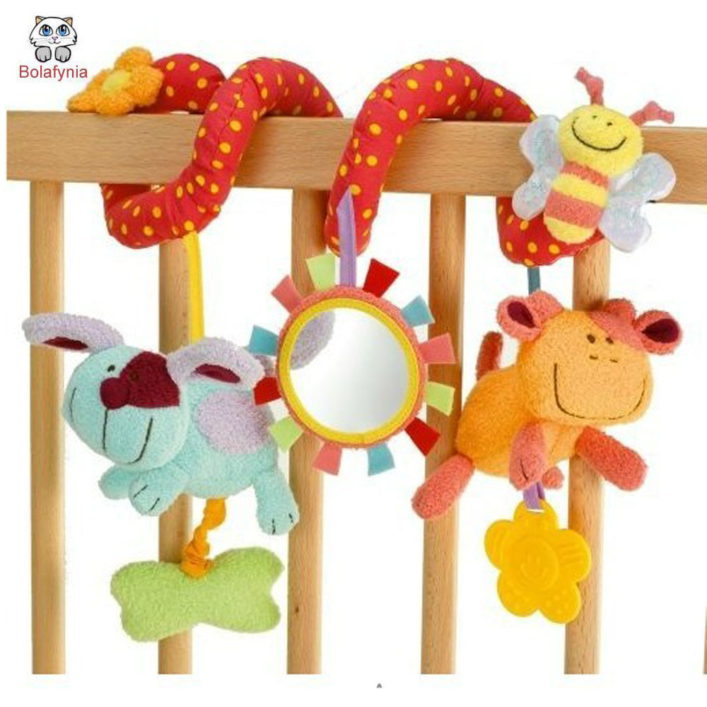 Multifunctional animal bed around crib bell baby bedside bell rattles bed toys children toys