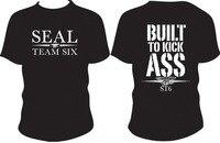 Nuovo arrivo degli uomini t shirt navy seal team six costruito per kick ASS ST6 Disegno Stampato T-Shirt In Cotone di Modo di Estate Top Tee Taglia S-3XL