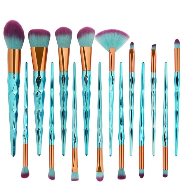 15Pcs Cosmetic Makeup Brushes Foundation Powder Eyeshadow Brush Professional Make up Brushes Set pinceaux maquillage Eye Shadow Applicator