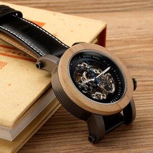 Image 5 - BOBO BIRD montre mécanique automatique K12, montre bracelet analogique de luxe en bois bambou, Style classique, avec acier, boîte en bois en cadeau