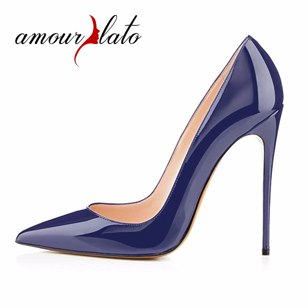 Amourplato Women's Pointed Toe Classic Slip On Thin Heels Pumps Sexy Stiletto Heel Work Party Formal Dress Shoes Multicolors hot sale leopard high heels 12cm woman dress shoes thin heel female outfit pumps slip on pointed toe party shoes stiletto heels