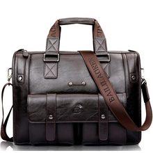 Men Leather Black Briefcase Business Handbag Messenger Bags Male Vintage Shoulder Bag Mens Large Laptop Travel Hot XA177ZC