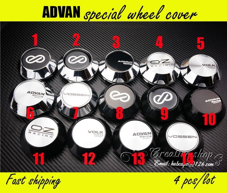 Free Shipping 4pcs Lot 68mm Chrome Advan Racing Wheel