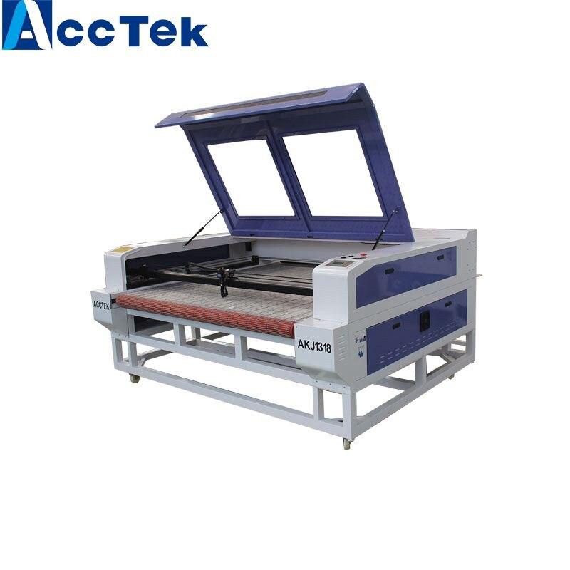 High Accuracy CE FDA Certificated 1318 Co2 Auto Feed Laser Cutting Machine Cnc Laser Cutting Machine For Fabric