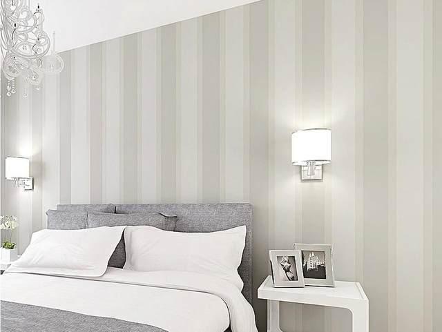 no tejido papel pintado a rayas verticales moderna minimalista dormitorio sala de estar tv tapiz de fondo rayas anchas - Papel Pintado Rayas Verticales