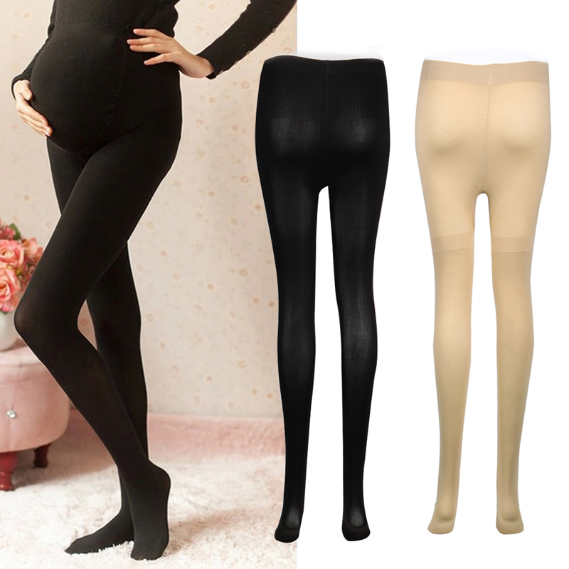120D Women's Pregnant Socks Maternity Tights Solid Stockings Hosiery Pantyhose sexy rhinestone mesh fishnet pantyhose women bling tights slim pantyhose in a grid stockings plus size party club hosiery sw071