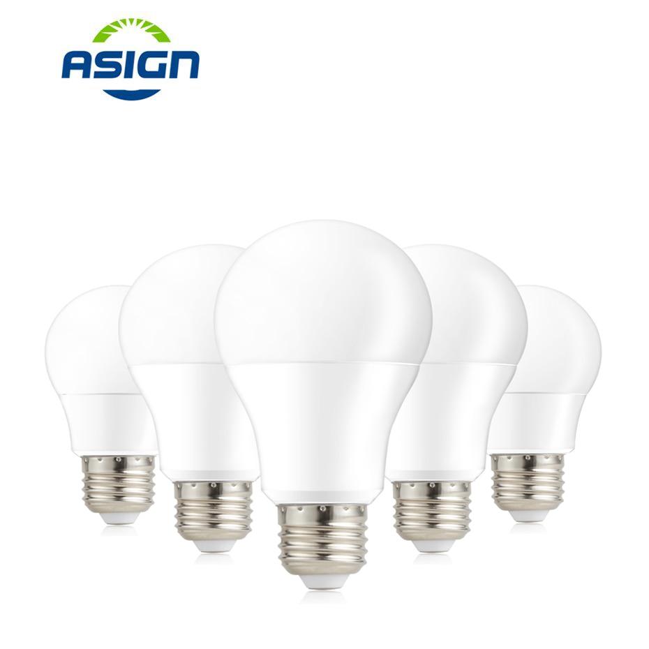 Bombilla LED E27 3W 5W 7W 9W 12W 15W 220V SMD 2835 luces LED blanco frío blanco lámpara LED globo para la iluminación del hogar LUCKYLED luz LED moderna de pared espejo de Baño Luz 9W 12W AC 90-265V lámpara de pared impermeable
