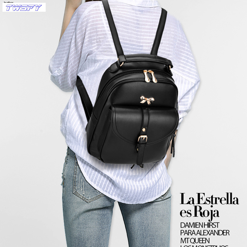 Women Backpacks Women'S PU Leather Backpacks Female School Shoulder Bags Teenage Girls College Student Casual Bag Lady Backpack menghuo casual backpacks embroidery girls school bag female backpack school shoulder bags teenage girls college student bag