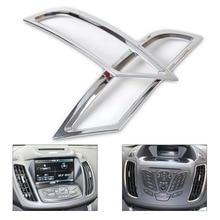 DWCX car styling 2pcs Chrome Dashboard Air Vent Outlet Cover Trim Garnish