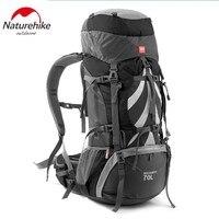 NatureHike Professional Альпинизм рюкзак для альпинизма велоспорта На Открытом Воздухе Пеший Туризм непромокаемые большой ёмкость 70L рюкзак для восхо
