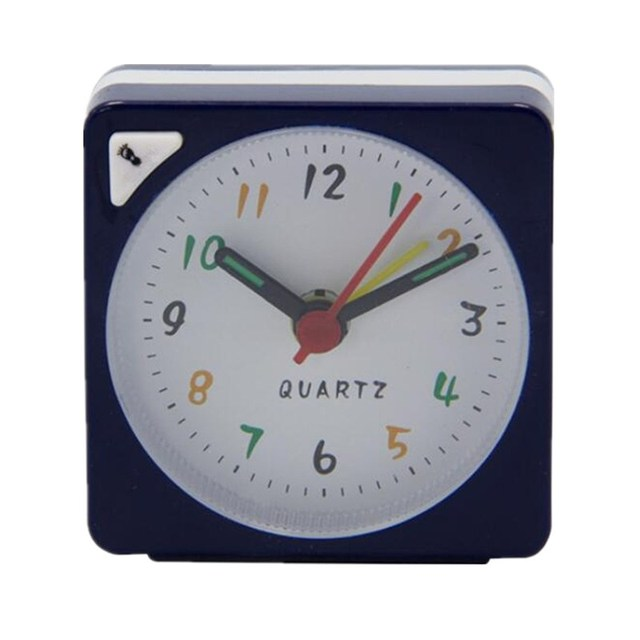 Charminer Mini Travel Alarm Clock Analogue Quartz Battery Operated With Snooze LED Light Trip Bed Compact Alarm Clock Hot Sale