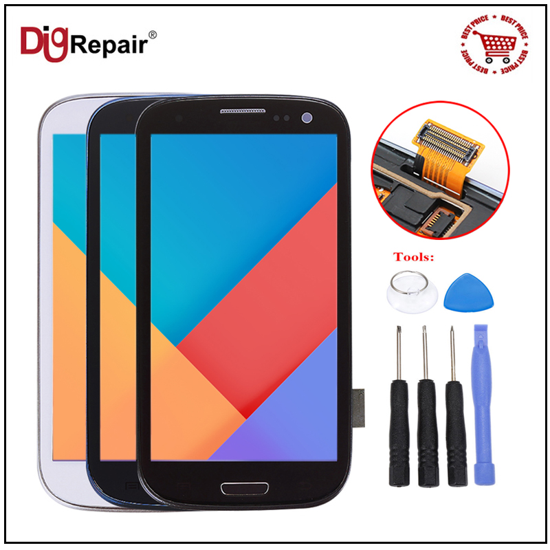 i9300 LCD For Samsung Galaxy S3 LCD Display Digitizer Frame Replacement Touch Screen For Samsung S3 i9300 LCD
