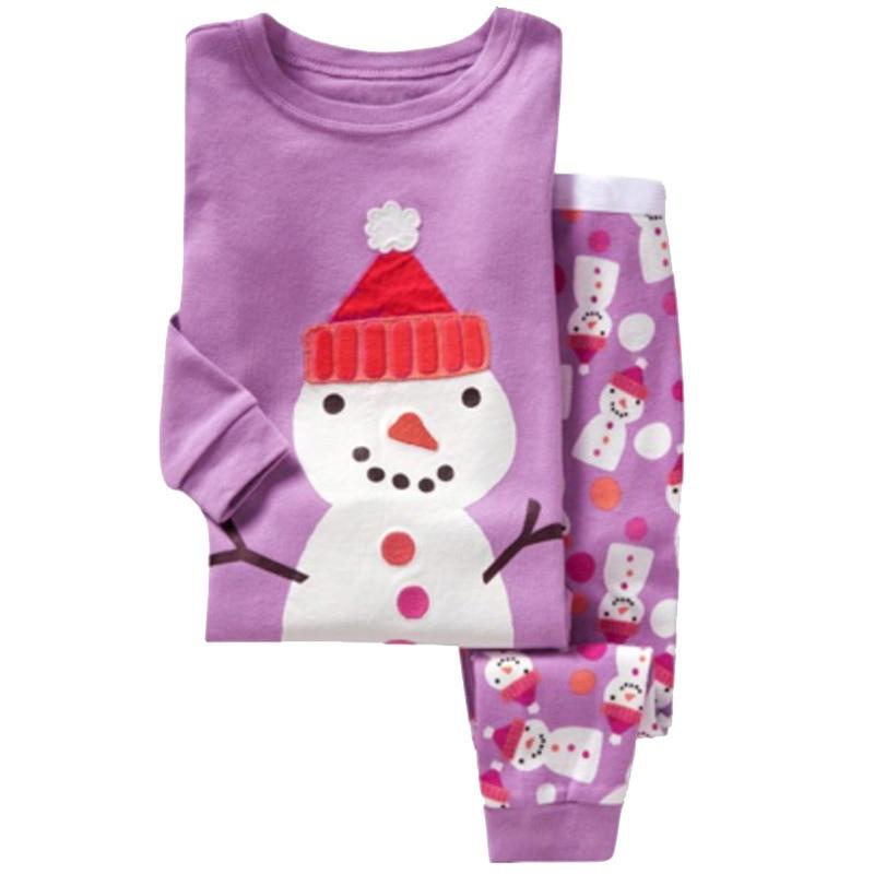 Childrens Christmas Pajamas Set 2-7 Years Girls Pajamas Cartoon Snowman Pattern Kids Clothing Set Boys Sleepwear Baby Pijama ...