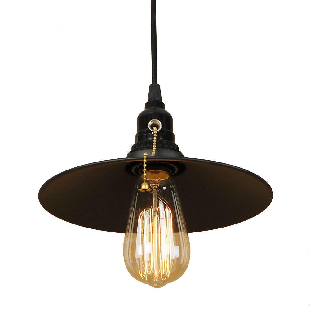 Винтаж подвесной светильник светодиодный E27 с 3 вида цветов Простая Современная Подвесная лампа с переключателем в простом стиле для гостиной, спальни, отель кабинет