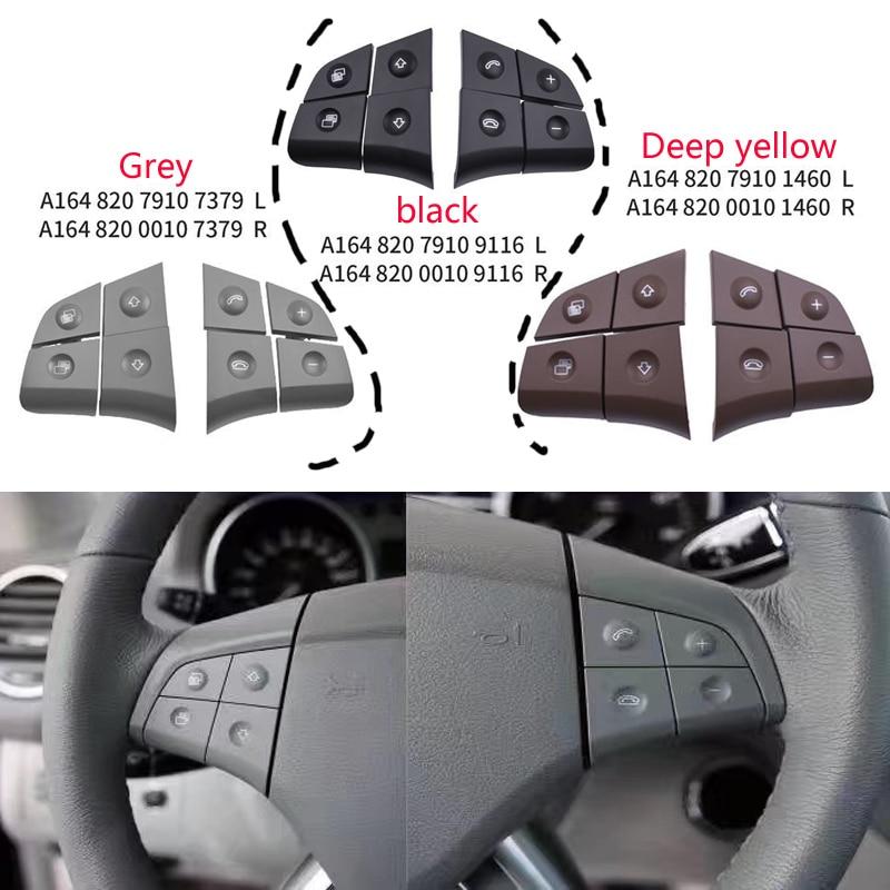 XZANTE Bot/óN de Volante de Audio Multifunci/óN de Coche para Mercedes W164 GL ML 2006-2009 Negro