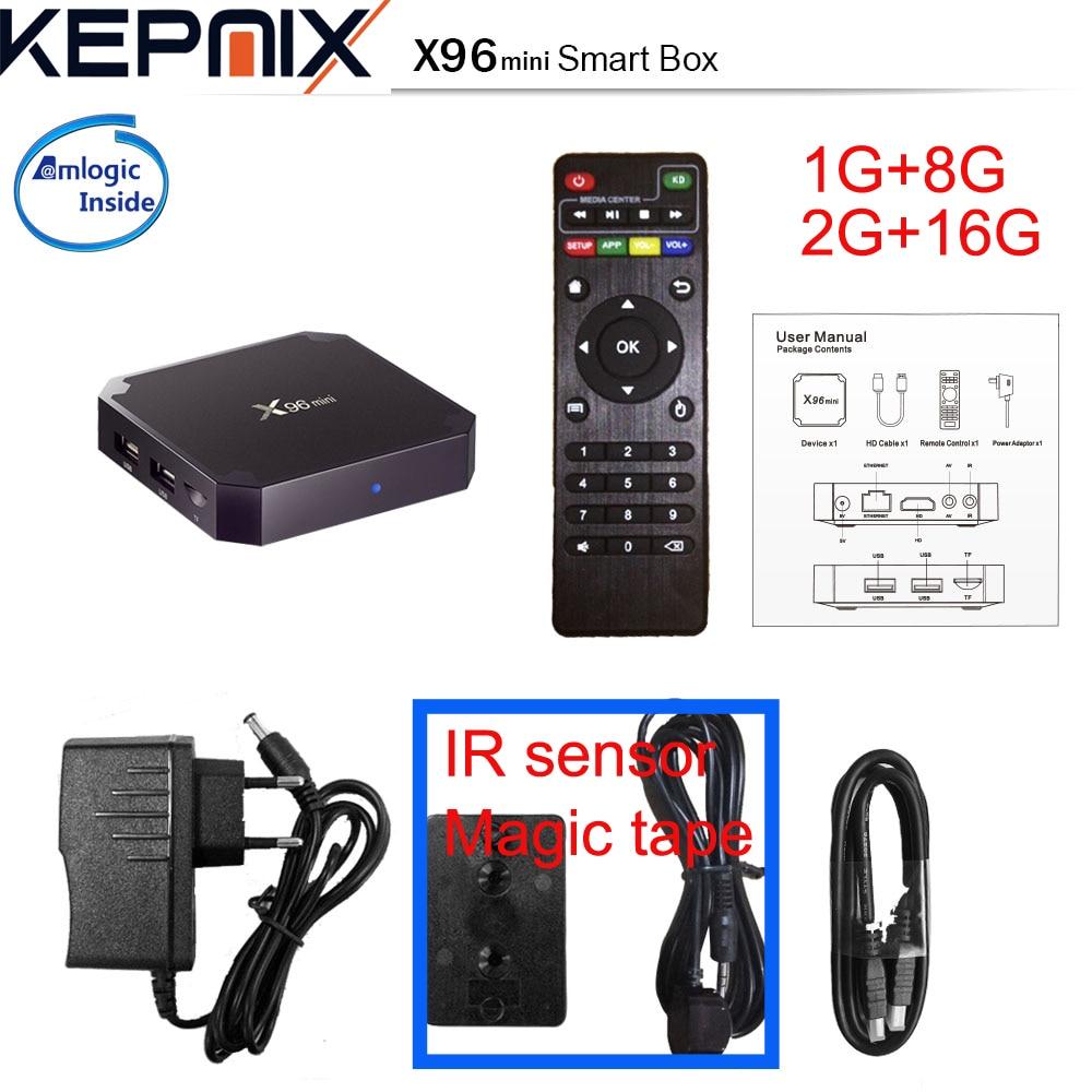 X96 мини 5 шт. Amlogic s905w bluetooth Дополнительно 4 ядра android 7.1 ТВ коробке 2 ГБ 16 ГБ 1 г/ 8 г 4 К домашнего кино 2.4 г Wi-Fi x96 s905w