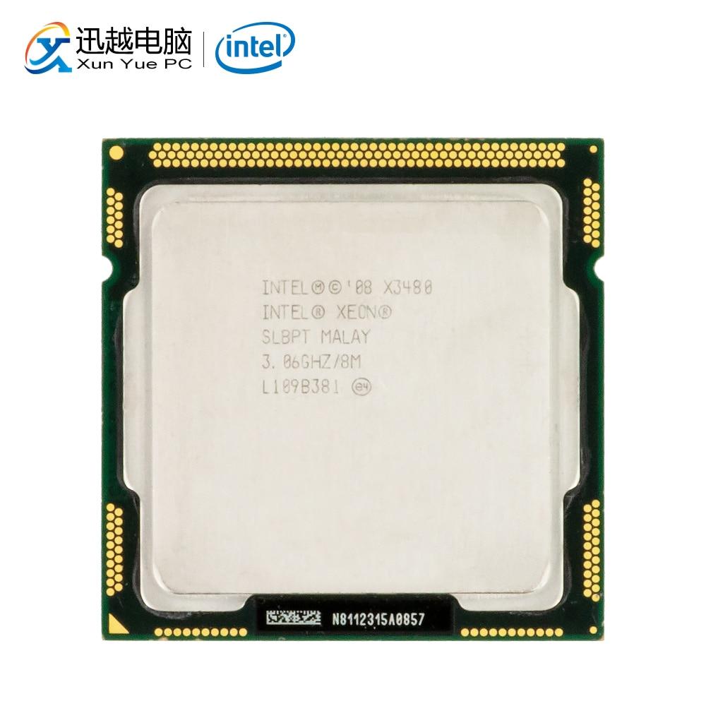Intel Xeon X3480 настольный процессор 3480 четырехъядерный 3,06 ГГц 8 МБ кэш L3 LGA 1156 сервер используемый ЦП