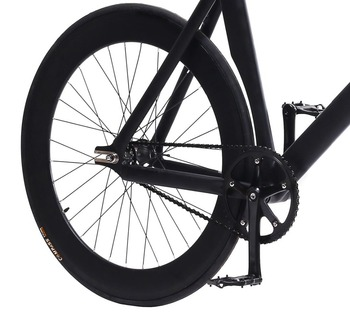 рама велосипеда Fixie | Фиксированная Шестерня велосипеда Fixie рама 55 см 58 см DIY 700C мышечный алюминиевый сплав велосипед трек велосипед Wiith 3 спиц обод колеса